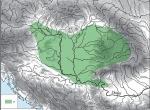 Fig. 2. Avar Khaganate w Central Europe around 700 AD; according to O. Heinrich-Tamáska (ed.), 2011, pp. 653-702, Pl. II. a – extent of Avar occupation.