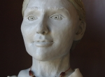 Fig. 5. Forensic facial reconstruction of a thirty-year old woman from the inhumation burial at Brudnice.