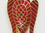 Fig. 1. A plaque in the shape of an eagle. Gold and almandines, from Danţă-Marghitu 2008.