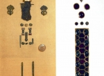 Fig. 2. A sword with a gold hilt and scabbard set with garnets from the Blučina-Cezavy burial in Moravia (W. Menghin 1987).