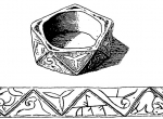 Fig. 2. Gold polygonal ring with a runic inscription from Karlino, F. Magnusen (Tybulewicz 2011, p. 147, fig. 6)