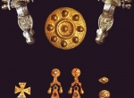 Fig. 1. Suite of jewellery of mixed Langobard/local  From a female grave, cemetery at Castel Trosino, Italy (M. Hegewisch 2009)