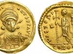 Fig. 4. Justinian I, Barbaric imitation (http://www.coinarchives.com/)