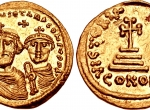 Fig. 3. Heraklius and Constantin I, Constantinopol (http://www.wildwinds.com/coins/ric/i.html)