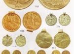 Fig. 1.  Zagorzyn, some surviving medallions, solidi and Scandinavian bracteats (Bursche 1998, Plate J).